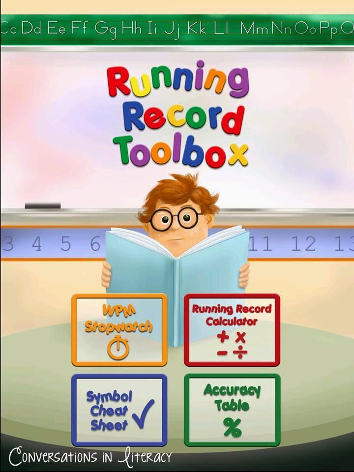 Running Records Toolbox app
