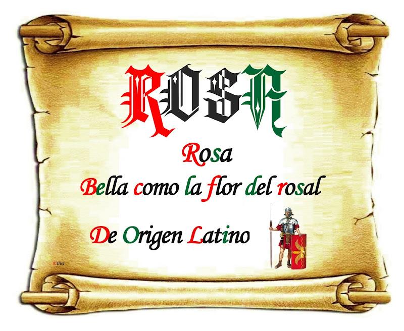 Imagenes De Nombres De Rosa