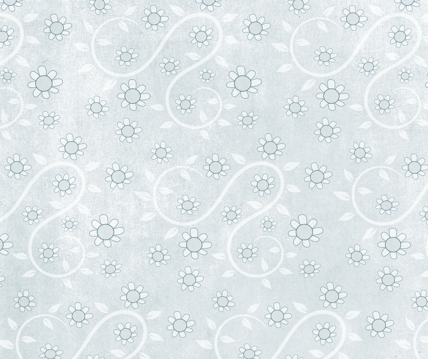 Blumenmuster blau texturiert mit kk_rainyday