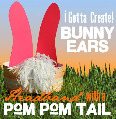 Bunny Ears and Pom Pom Tail Headband