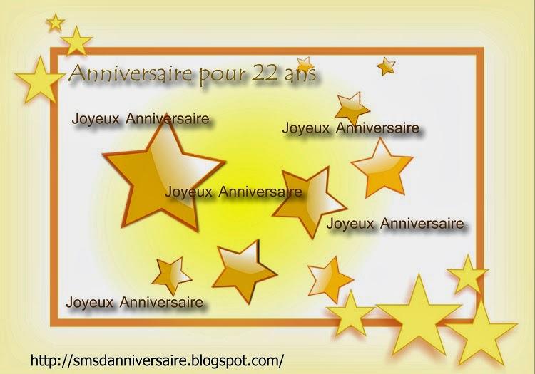 Sms D Anniversaire Pour 22 Ans