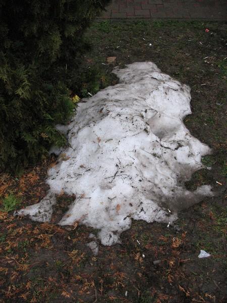 Остатки снега