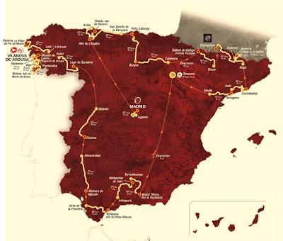 Mapa de la Vuelta Ciclista 2013
