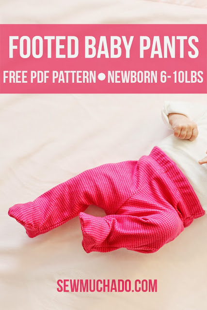 Comfortable baby footed pants sewing pattern