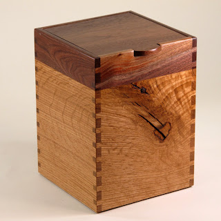 Recycled Black Walnut and Quarter-Sawn Oak Box