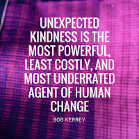 Unexpected kindness...