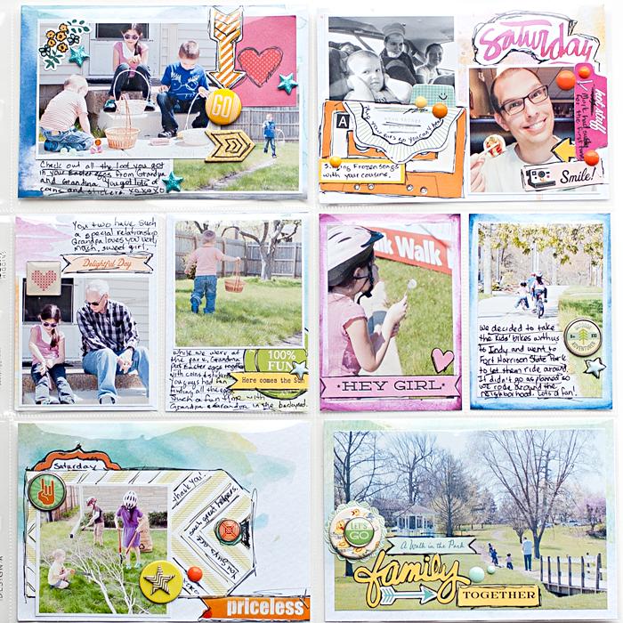 Heather Greenwood | Project Life Week 17 | hybrid scrapbook page