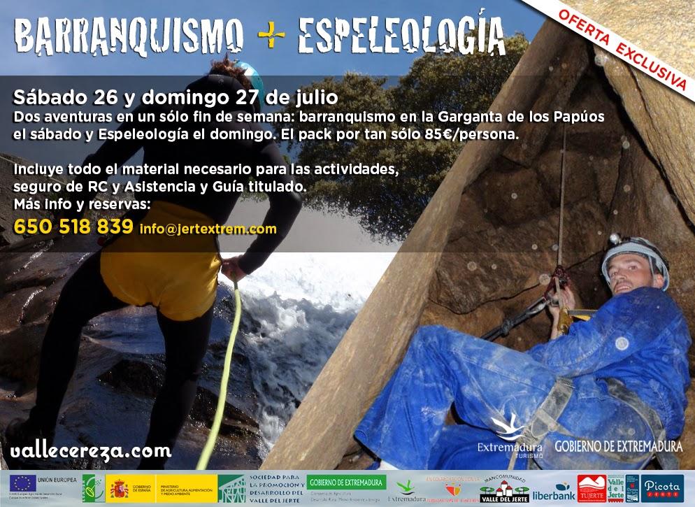 Barranquismo + Espeleología en el Valle del Jerte