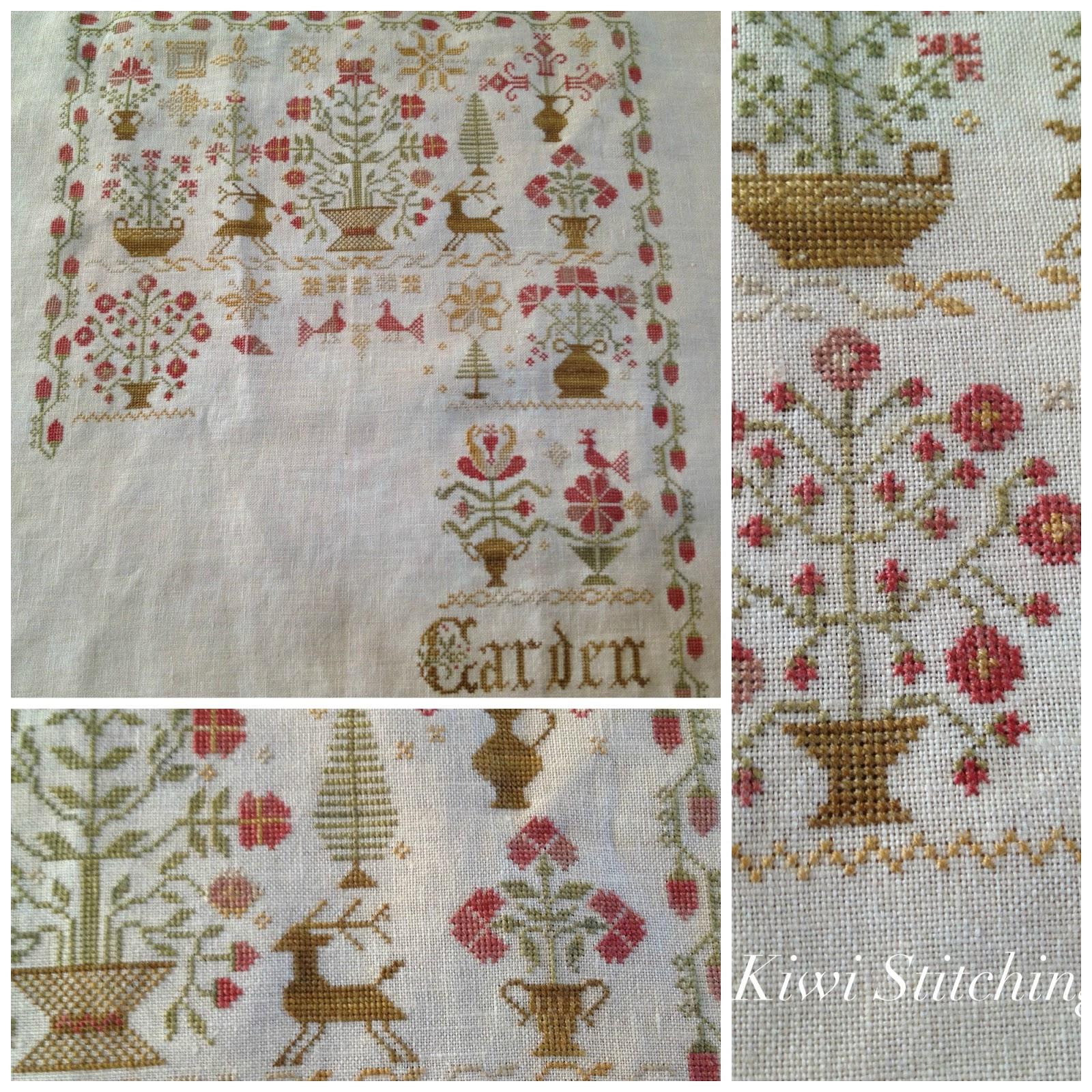 A kiwi stitching christmas garden update for Christmas garden blackbird designs