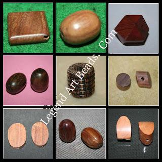 Fancy Wooden Plain Beads
