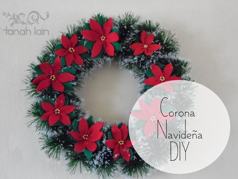 El rinc n de ana c mo hacer una corona navide a - Como hacer coronas navidenas ...