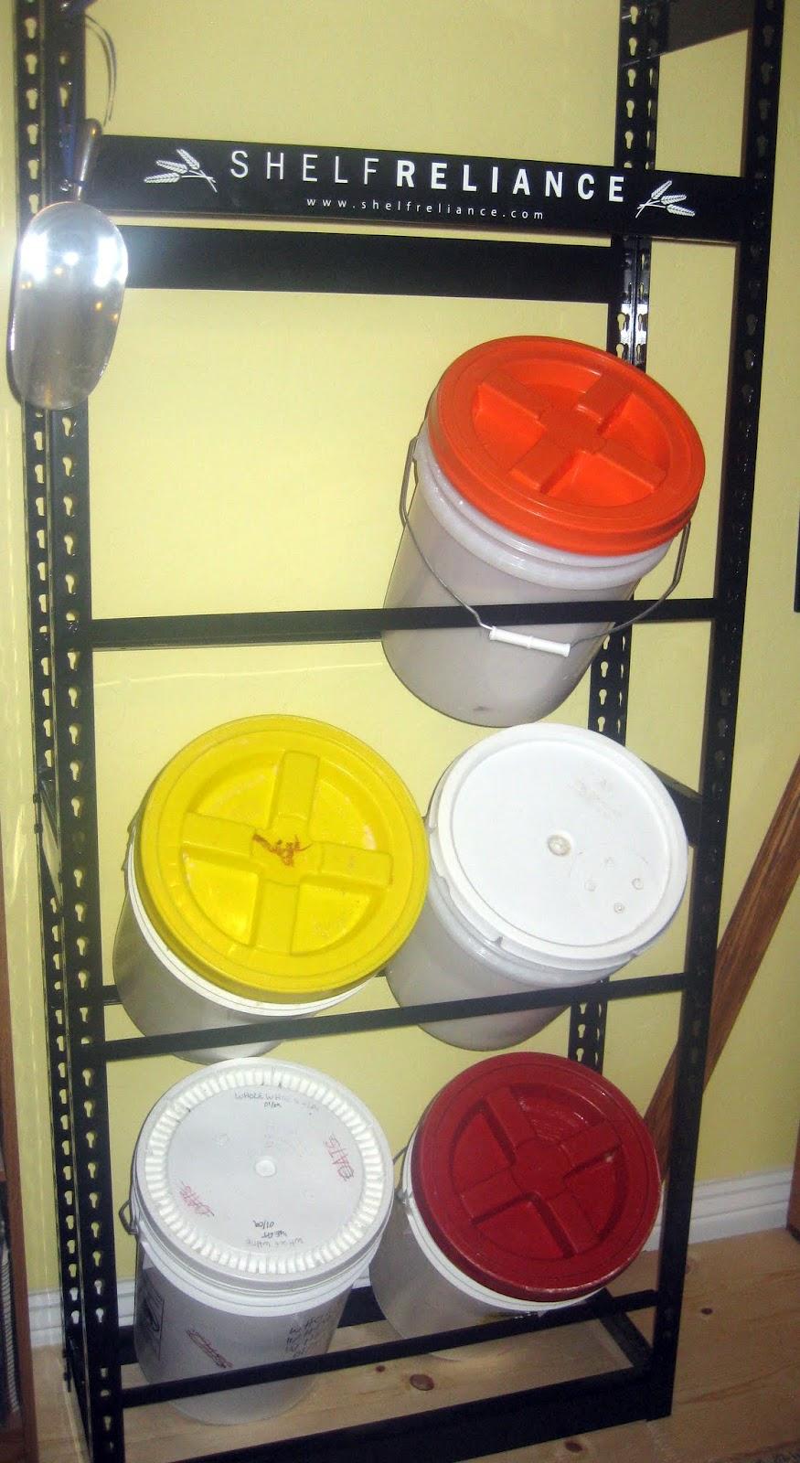Where Do I Put My Food Storage? 6 Gallon Bucket Shelf