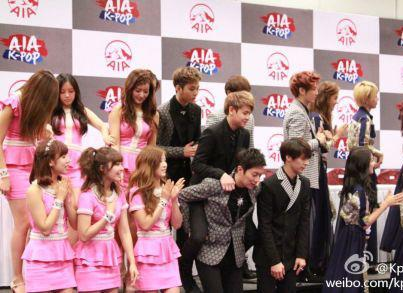 Eng Sub][130105] AIA Hong Kong Press Conference – BEAST,4minute