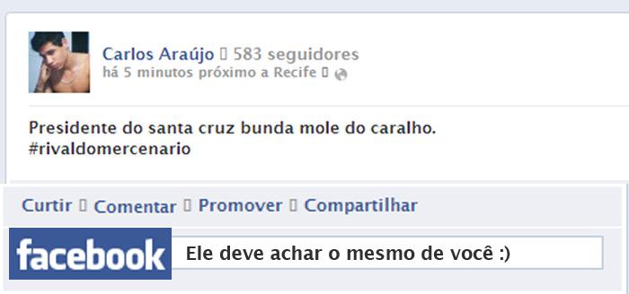 """Usuários """"Boca Suja"""" do Facebook"""