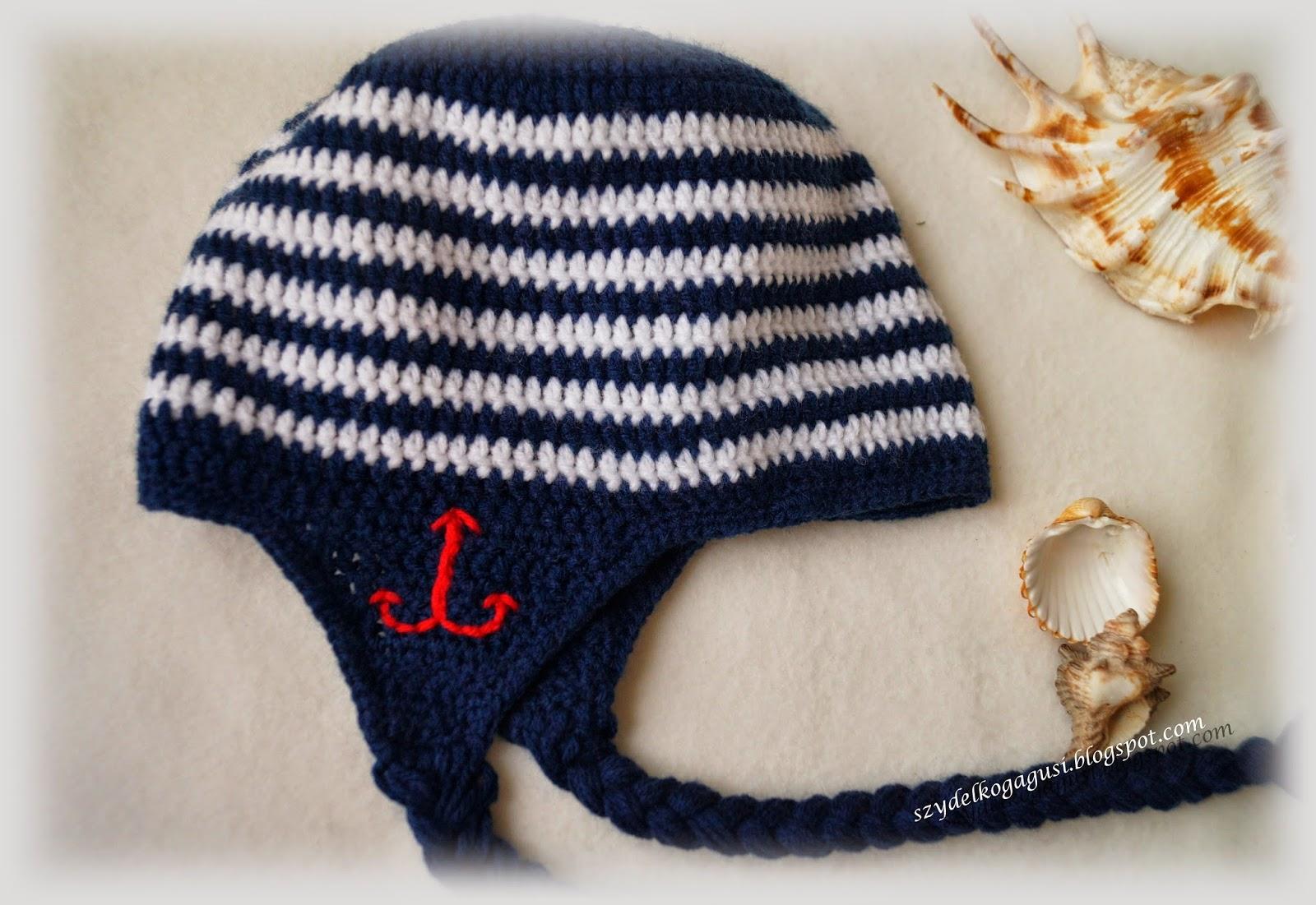 crochet marine hat