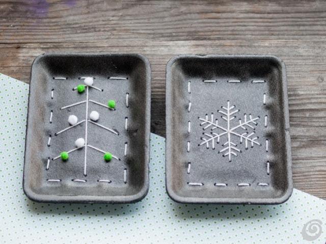 Lavoretti per bambini - riciclo creativo vaschette alimentari di polistirolo