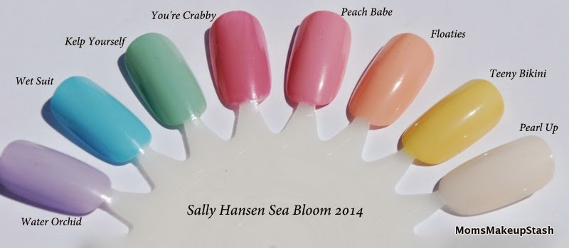 Sally Hansen Nail Polish, Sally Hansen Xtreme Wear, Sally Hansen Sea Bloom, Sea Bloom Collection, Sea Bloom Swatches, Sally Hansen Swatches