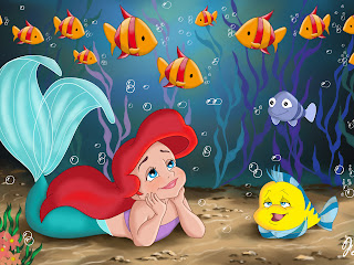 Disney Little Mermaid Cartoon HD Wallpaper