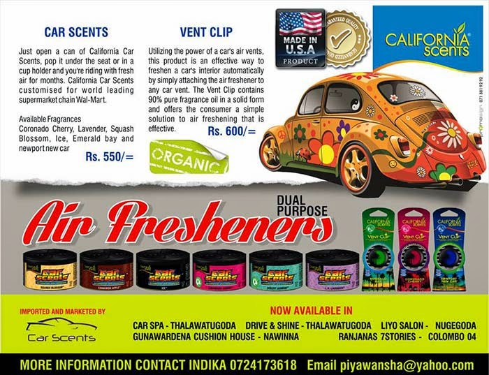 From the time we produced our first can to today, we have maintained our 100% pure organic fragrance oil formulation that has provided consumer satisfaction with every can. As our line has grown, we have brought the same commitment to quality to every product we have developed. With high impact packaging, sensational fragrances and a wide array of product offerings, California Scents provides consumers with air freshening products that work and meet their needs every day.