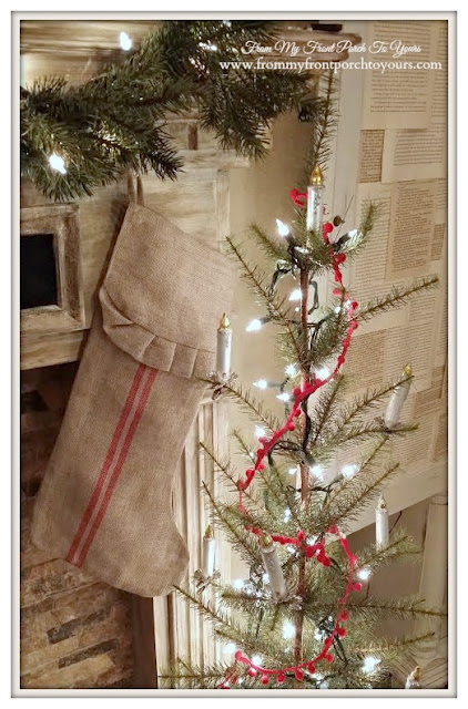 Christmas Mantel-Inspiration-From My Front Porch To Yours