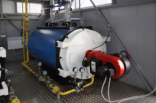Gas fired industrial boiler