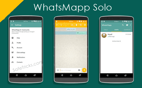 Dual Whatsapp account By Using WhatsMapp Solo