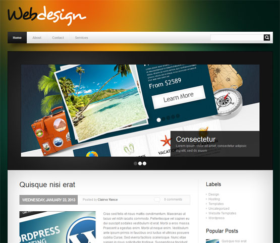 Webdesign Blogger Template