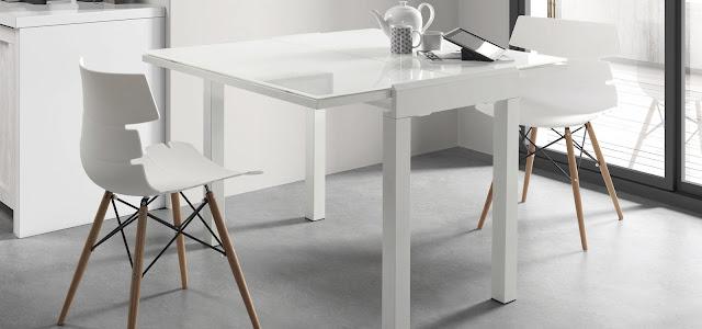 Muebles para casas peque as mesas de comedor para for Comedor para espacios pequea os
