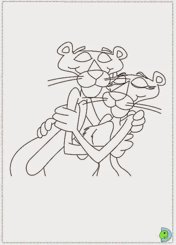 pink panther coloring book pages - photo#22