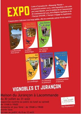 #exposition  #Vignobles et #Jurançon à #lacommande #béarn, #vin