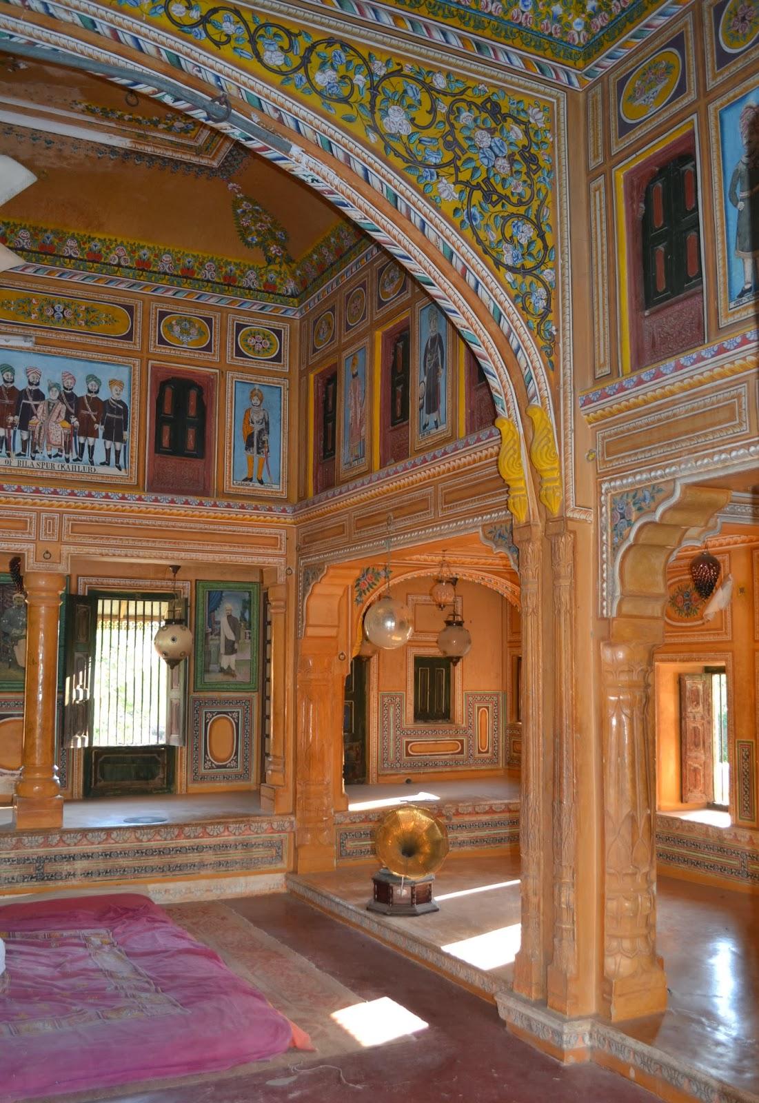 Inside A Haveli Mandawa Rajastan