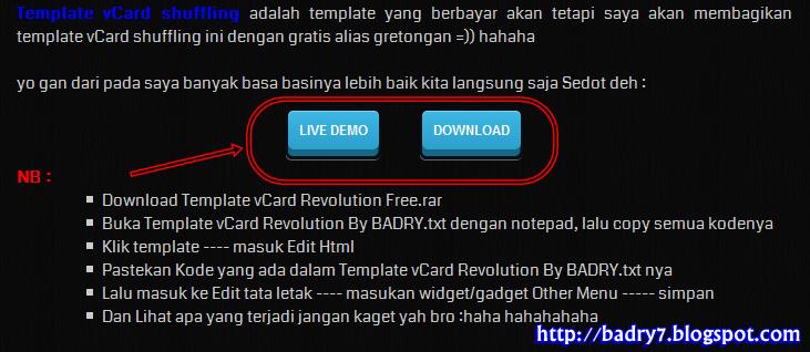 Screenshot Contoh Tombol