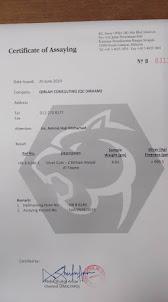 QC DiRHAM CERTIFICATION by ASSAYER (KL Assay Office Sdn Bhd)