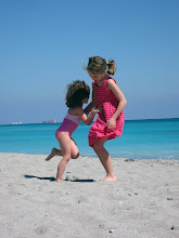 Dancing on the sand floor