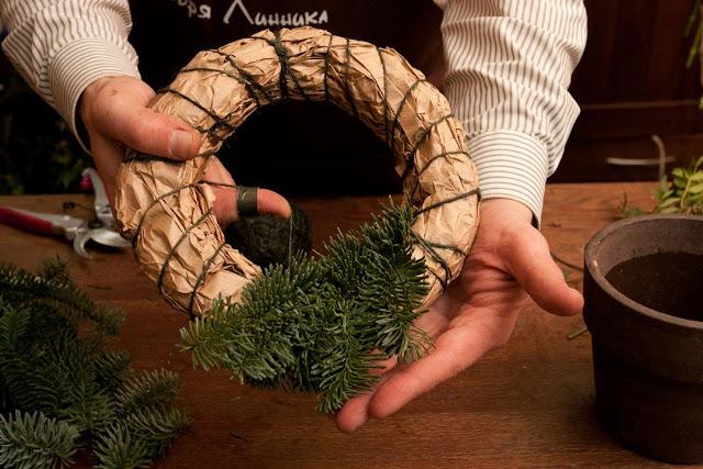 Мастер-класс рождественский венок своими руками