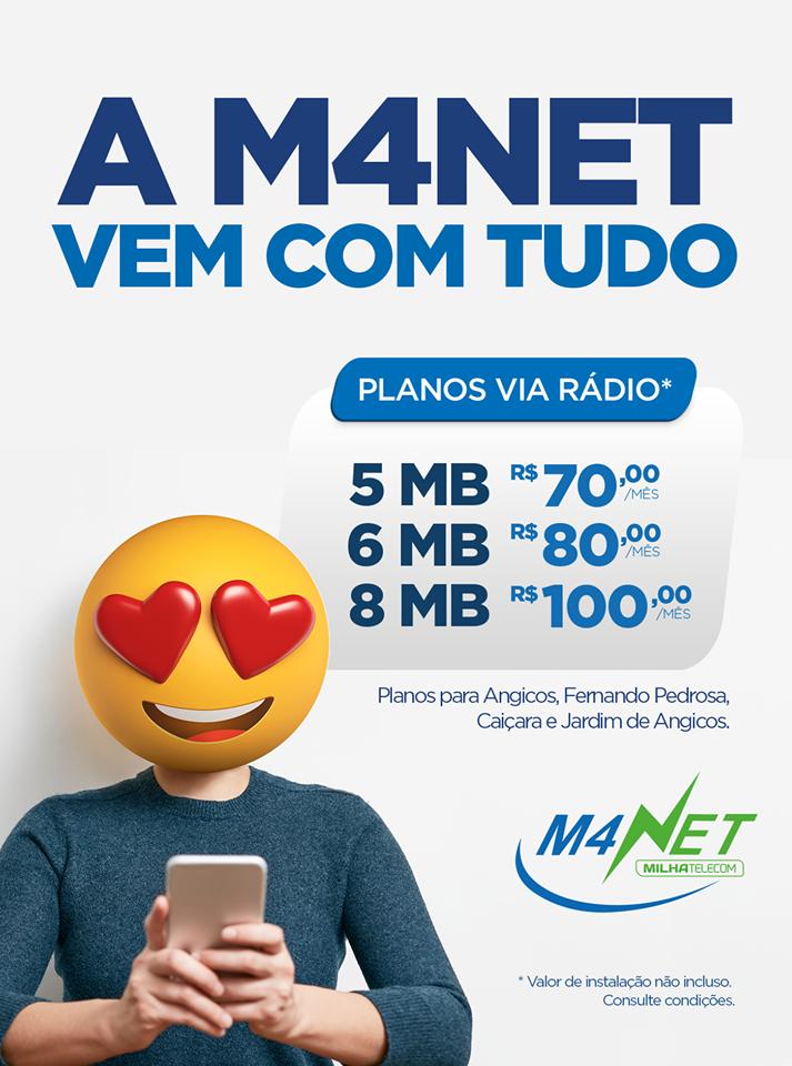 M4NET LEVANDO ATE VOCÊ A MELHOR INTERNET DO RN