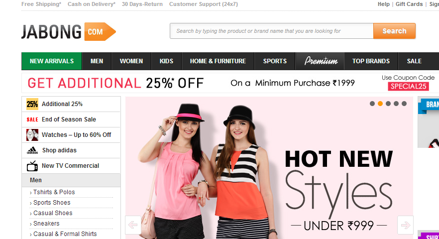 Online shopping sites in india list of online shopping for Online websites for shopping