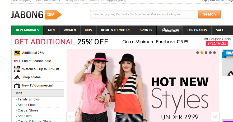 Online shopping sites in india list of online shopping for List of online shopping websites