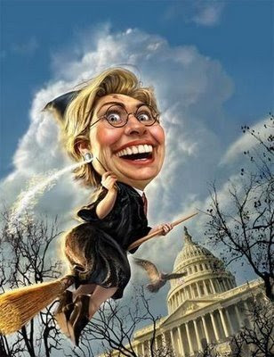 hillarty clinton as a witch