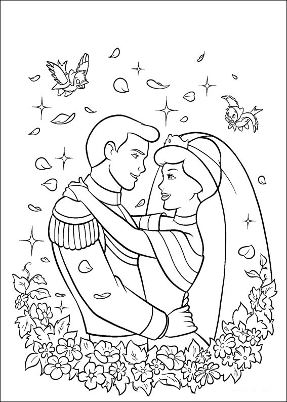 Fun Coloring Pages: Cinderella Princess Coloring Pages