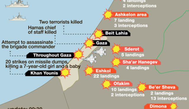 Mystical Politics Map Of Bombings And Rockets In Israel Gaza Today - Map of israel today