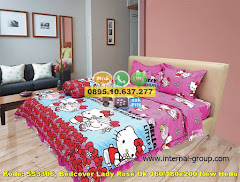 Harga Bedcover Lady Rose Uk 160/180×200 New Hello Kitty Jual