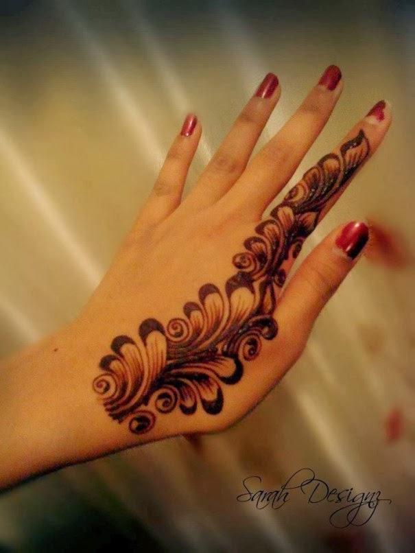 Finger Mehndi Designs Only