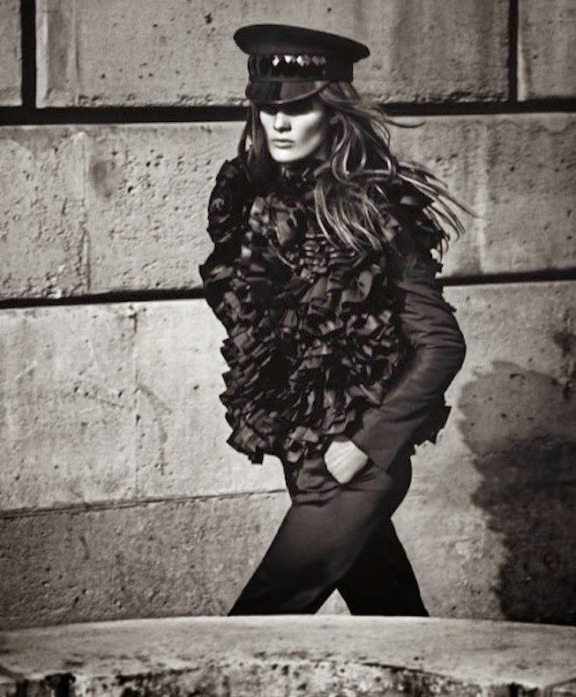 Isabeli Fontana in Emporio Armani by Mario Sorrenti for Vogue Paris, August 2012