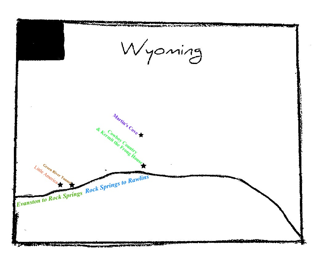 Wyoming Maps PerryCastañeda Map Collection UT Library Online Map - Us map i 80