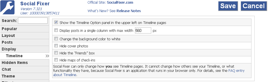 social fixer timeline tab