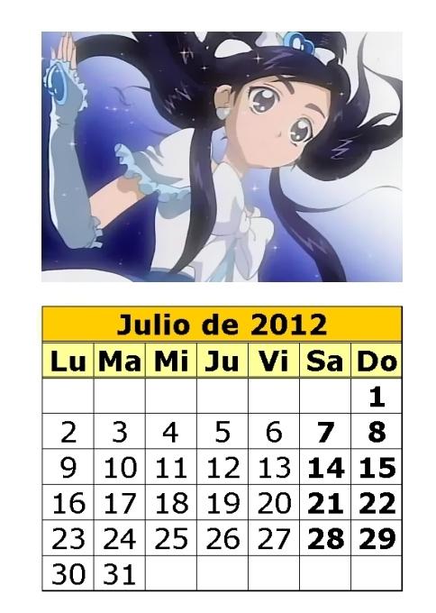 Calendario De Pretty Cure De 2012 3 Parte