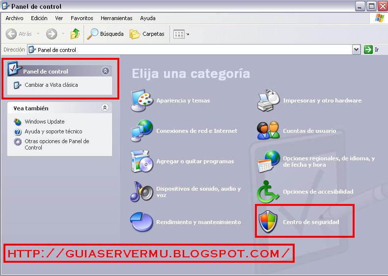 Ingresando al firewall de windows