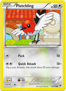 Fletchling Phantom Forces Pokemon Card