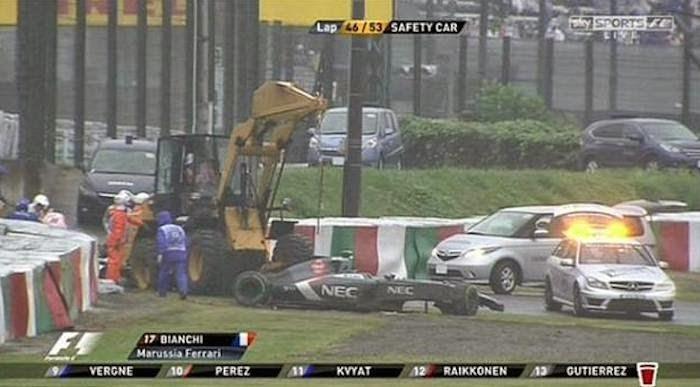 Jules Bianchi Crash  Formel 1 Großer Preis von Japan in Suzuka